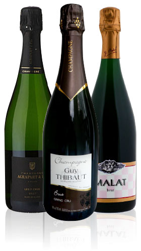 All Bubbles A-set - 3 bottles', Malat, Pascal Agrapart, G. Thiebaud,